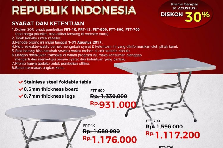 Mutu Indonesia Promo Agustus