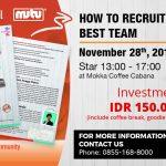 Gastropreneurship Community 1st Anniversary Mutu Indonesia
